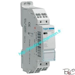 Contacteur 20A 2contacts à fermeture 230V