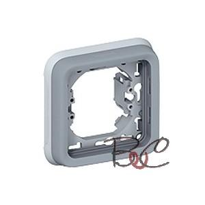 Support plaque Plexo encastré 1 poste gris 69681